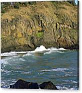 Rocks And Waves Canvas Print