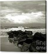 Rocks At Folly Beach Sc Canvas Print