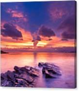 Rocks In Beach Canvas Print