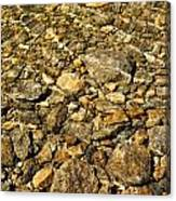 Rocks In Crystal Clear Water Canvas Print