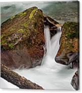Rocks Of Avalanche Gorge Canvas Print