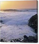 Rocks On The Beach, Giants Causeway Canvas Print