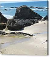 Rocks On The Oregon Coast Canvas Print