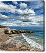 Rocky Coast In Malibu California Canvas Print