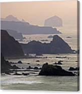 Rocky Headlands On The Big Sur Coast Canvas Print