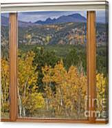 Rocky Mountain Autumn Picture Window Scenic View Canvas Print
