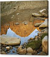 Rocky Mountain Peaks Are Reflected Canvas Print
