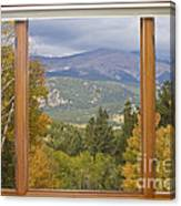 Rocky Mountain Picture Window Scenic View Canvas Print