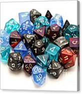 Role-playing Dices Canvas Print