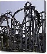 Roller Coaster Rides Inside The Universal Studio Park In Sentosa Canvas Print