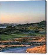 Rolling Green And Gold - Chambers Bay Golf Course Canvas Print