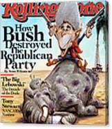 Rolling Stone Cover - Volume #1060 - 9/4/2008 - George W. Bush Canvas Print