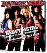 Rolling Stone Cover - Volume #506 - 8/13/1987 - Motley Crue Canvas Print