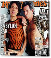 Rolling Stone Cover - Volume #775 - 12/11/1997 - Mick Jagger And Keith Richards Canvas Print