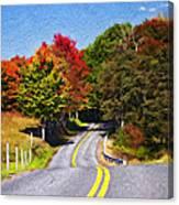 Rolling Thru West Virginia Impasto Canvas Print