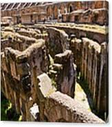 Roman Coliseum Underground Canvas Print