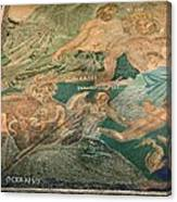 Roman Cosmological Mosaic Canvas Print