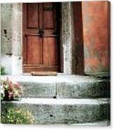 Roman Door And Steps Rome Italy Canvas Print