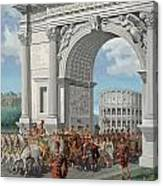 Roman Soldiers Lead Chained Captives Canvas Print