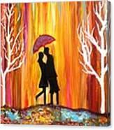 Romance in the rain II Canvas Print