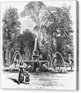Rome: Borghese Gardens Canvas Print