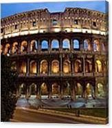 Rome Colosseum Dusk Canvas Print