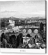 Rome: Scenic View, 1833 Canvas Print