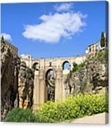 Ronda Bridge In Spain Canvas Print