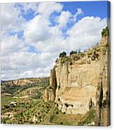 Ronda Cliffs In Andalusia Canvas Print