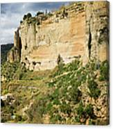 Ronda Rock In Andalusia Canvas Print