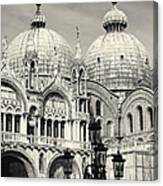 Roof And Facade Of St Mark Basilica  Canvas Print