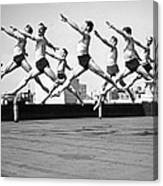 Rooftop Dancers In New York Canvas Print