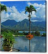 Rooftop Fountain In Paradise Canvas Print