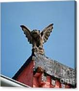 Rooftop Gargoyle Statue Above French Quarter New Orleans Canvas Print