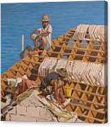 Roofworkers Canvas Print