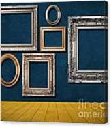 Room With Frames Canvas Print