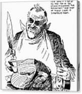 Roosevelt Cartoon, 1938 Canvas Print