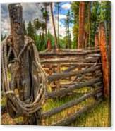 Rope On Fence Canvas Print
