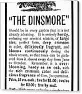 Rose Advertisement, 1890 Canvas Print