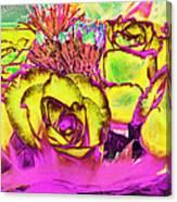Rose Boquet Art Canvas Print