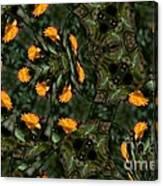 Rose Kaleidoscopic Mirror  Canvas Print