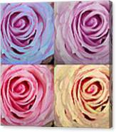 Rose Spiral Colorful Mix Canvas Print