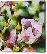 Roses At The Shrine Canvas Print