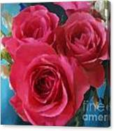 Roses In January Canvas Print
