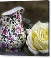 Roses Speak Of Romance Canvas Print