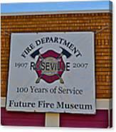 Roseville Fire Department Museum Canvas Print