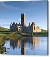 Rosserk Friary, Co Mayo, Ireland 15th Canvas Print