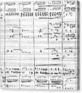Rossini Manuscript Page Canvas Print