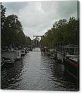 Rotterdam Canal Canvas Print