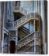 Rouen Cathedral Stairway Canvas Print